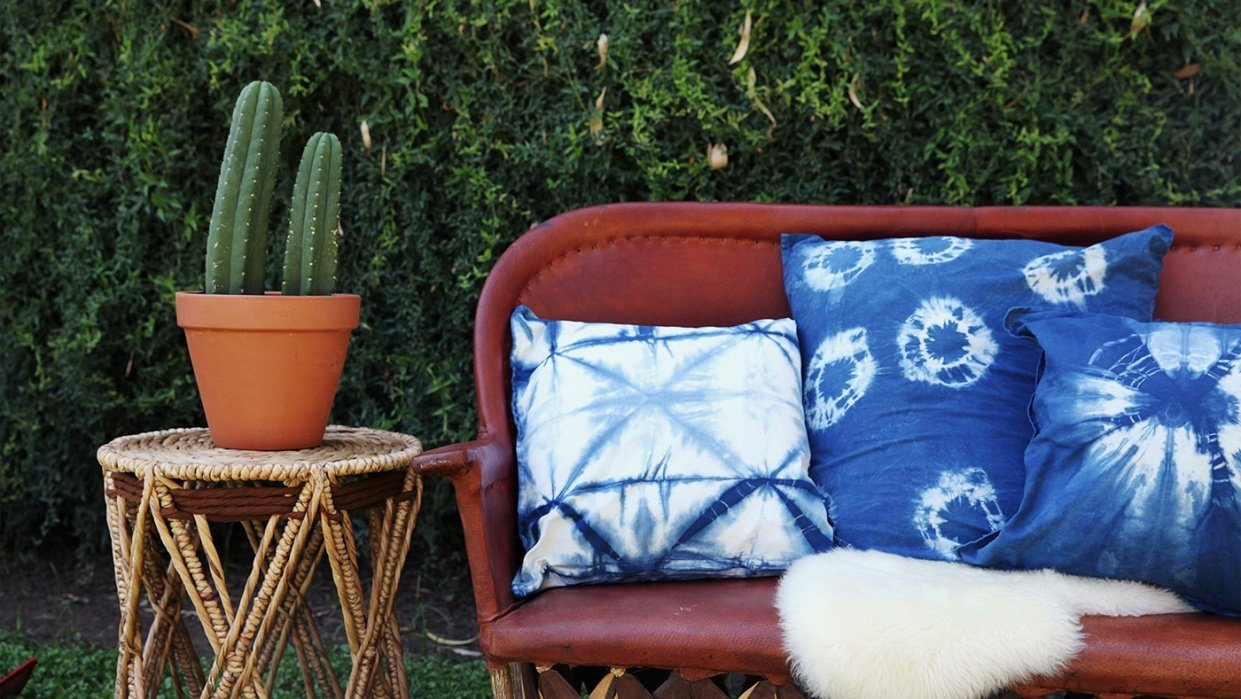 Before and Afters - Shibori 5 Ways - student project