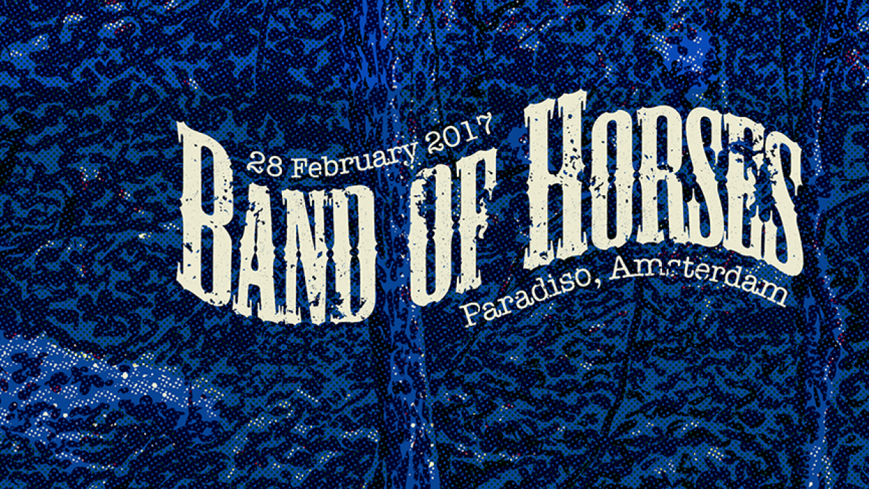 """Rock Poster for """"Band of Horses"""" - student project"""