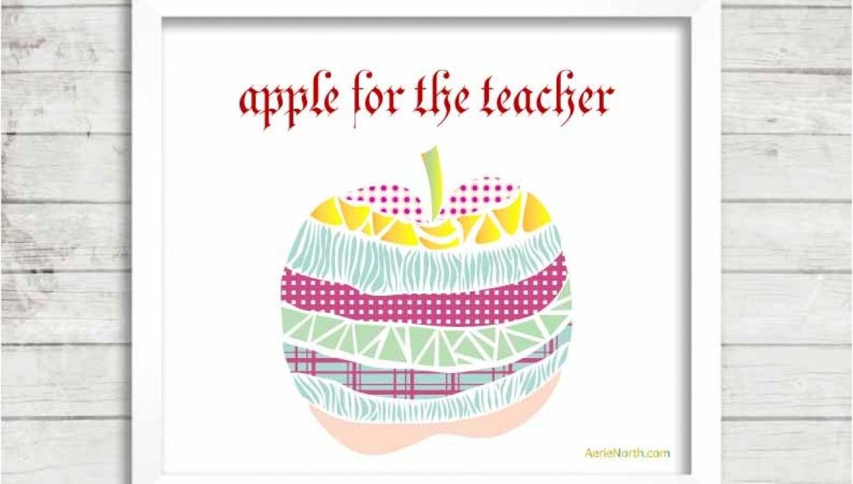 An Apple for the Teacher.  Thanks Franki ♥ - student project