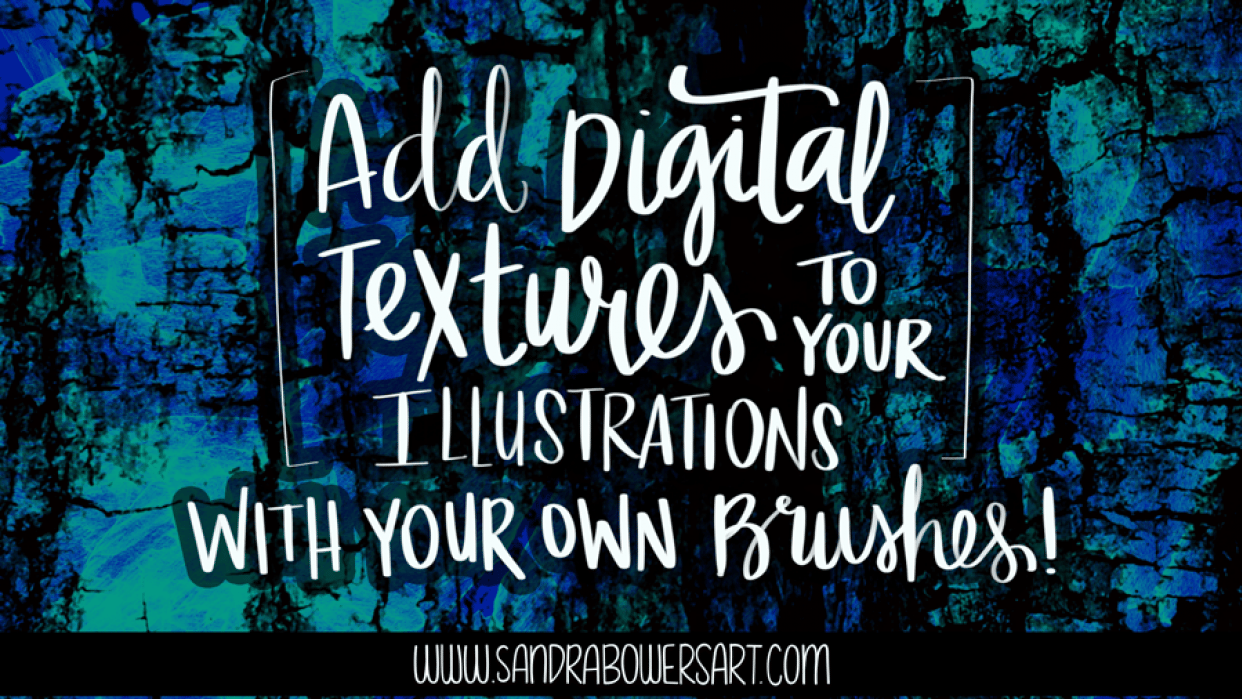 Add Digital Textures to your Illustrations - with your own brushes! Sample Project - student project