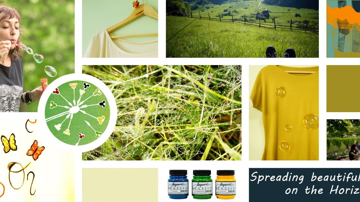 Mood Board for Painted T-shirts - student project