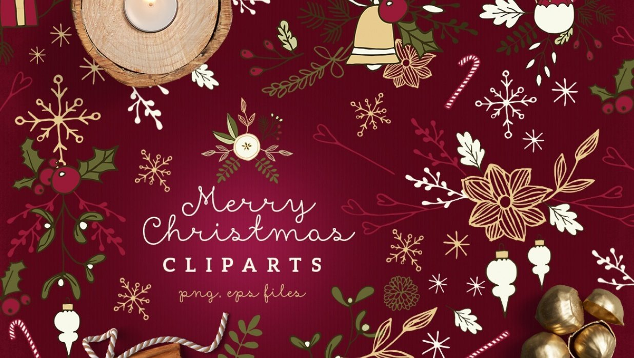 Christmas Cliparts tall pin - student project