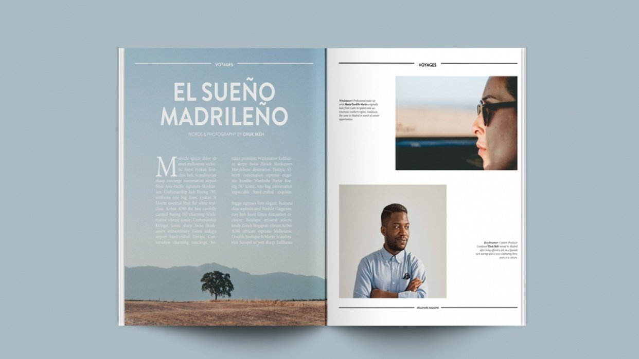 'Skillshare Magazine' Mock Feature Design - student project