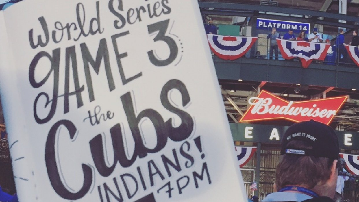 Lettering for the Cubs! - student project