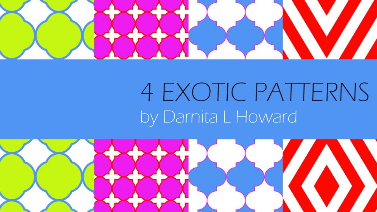 Bright Exotic Patterns - student project