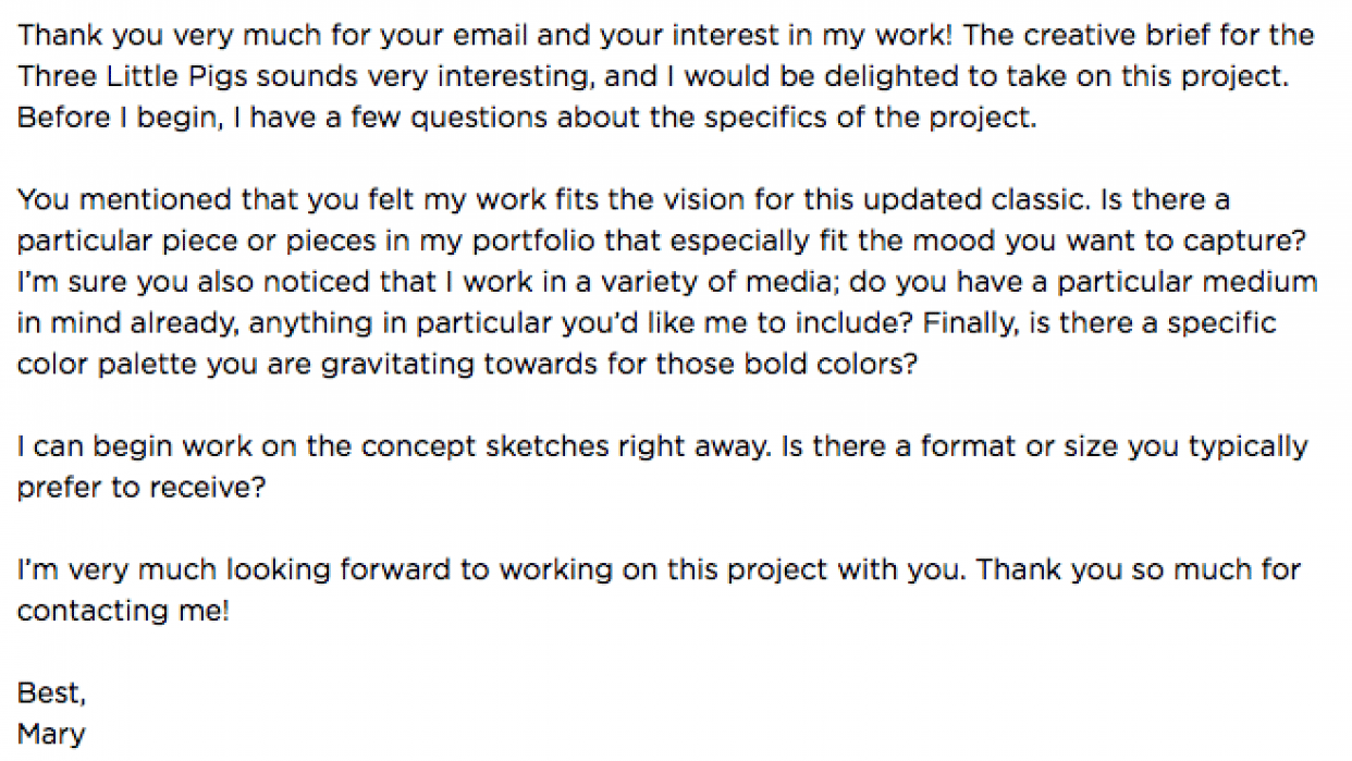 Mock Email reply - student project