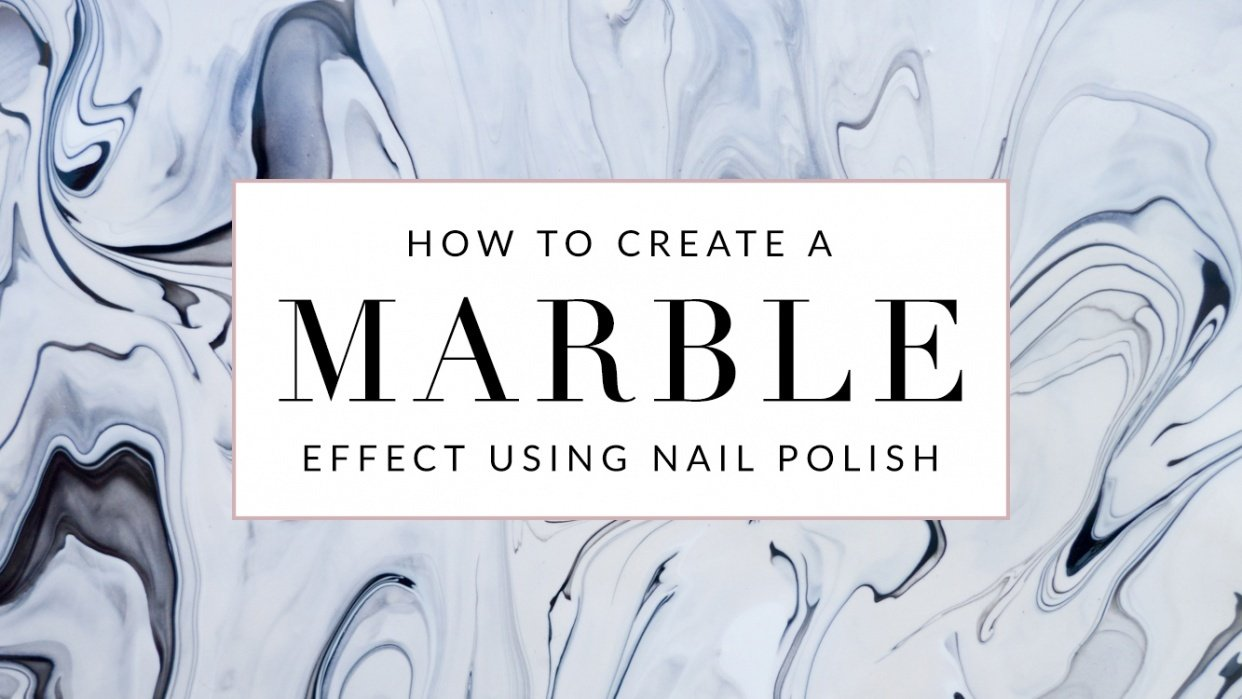 Marble Effect Using Nail Polish - student project
