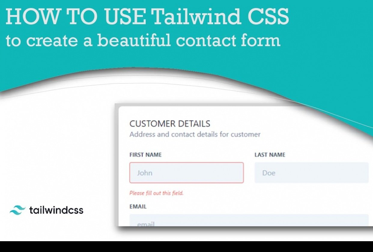 How to use TailwindCSS to create a beautiful contact form - student project