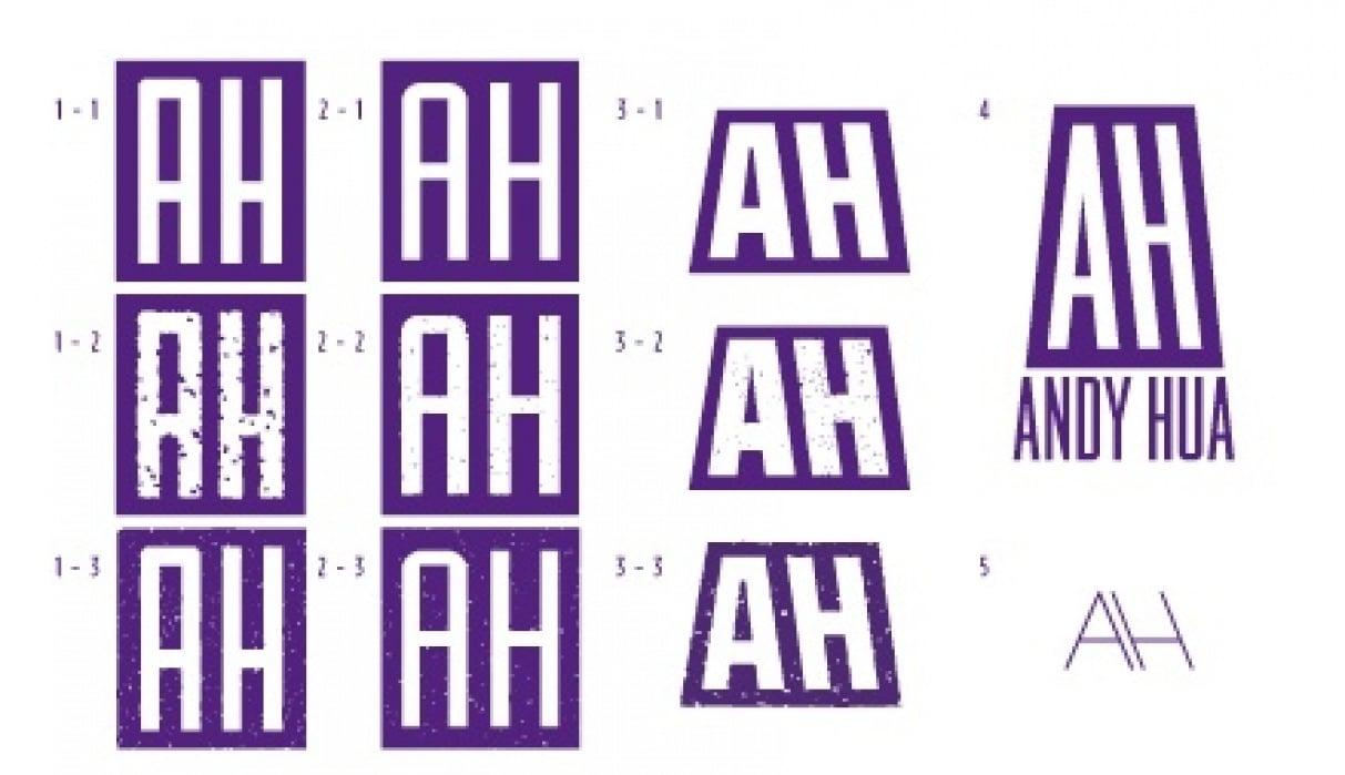 Purple Hills Studio Logo & Personal Monogram - student project