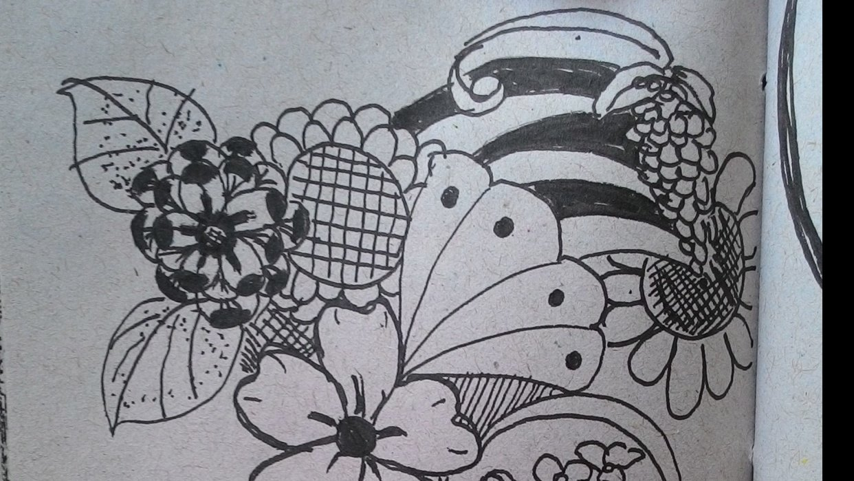 Some lovely flower doodles - student project