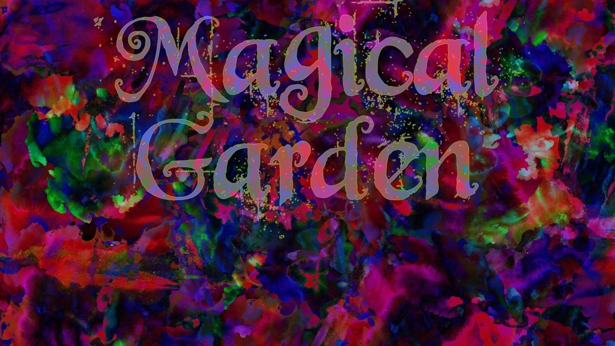 Magical Garden - student project