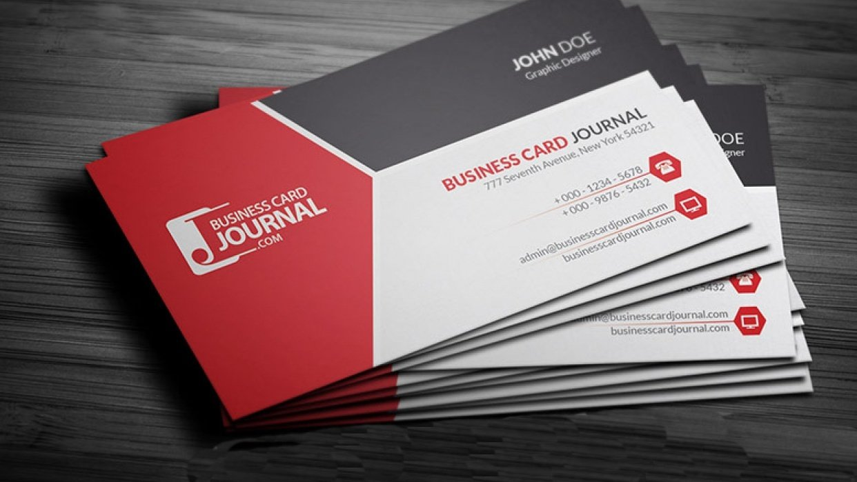 Learn To Make 2D & 3D Business Cards - student project