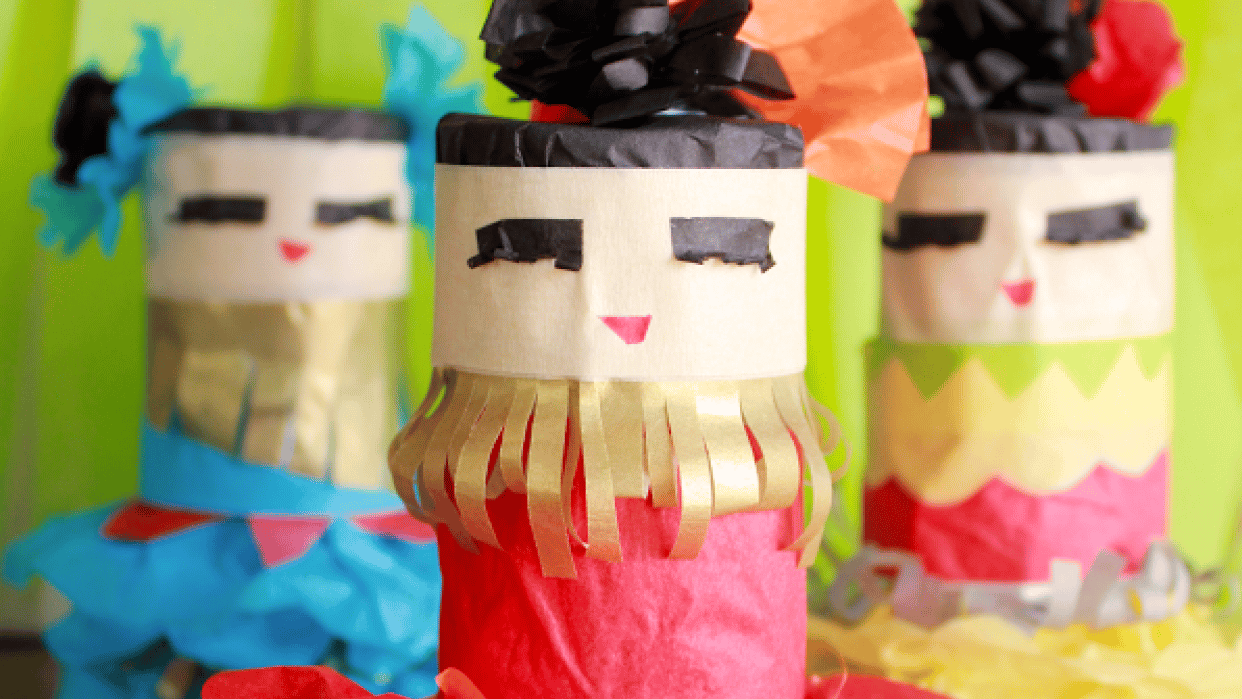 Mini Piñata Dancing Girls Party Favors - student project