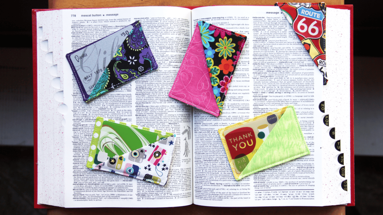 Sewing for Beginners:  Make a Fabric Gift Card Holder/Bookmark - student project