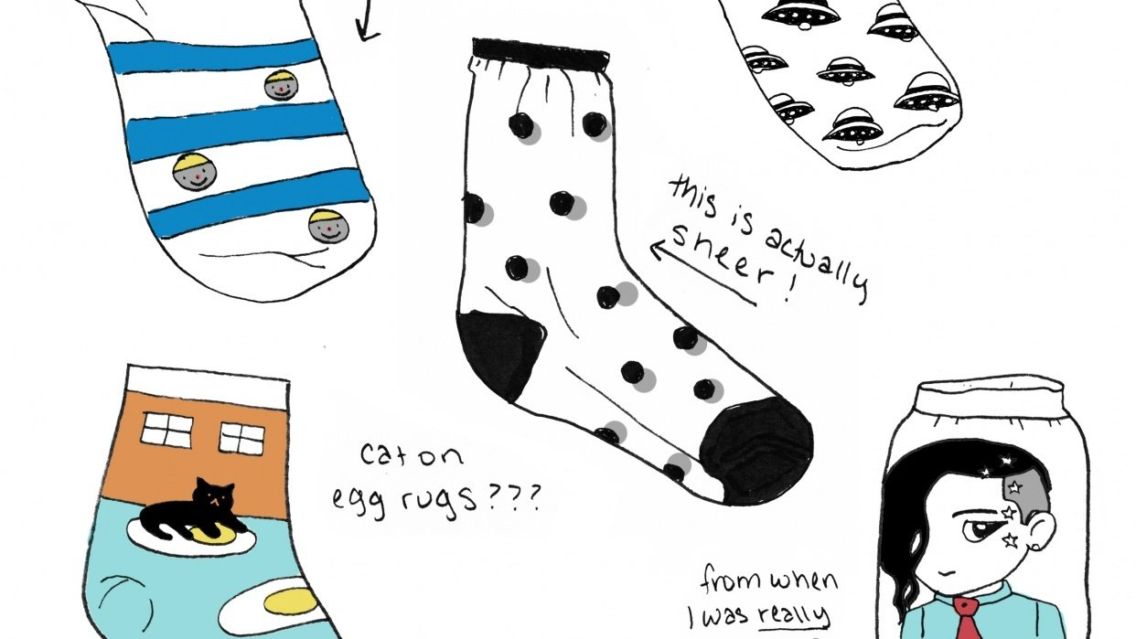 A Peek into My Sock Collection - student project