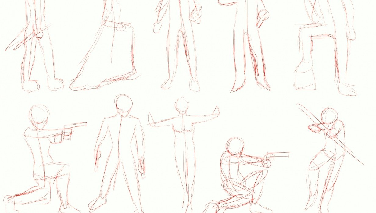 Figure Drawings - student project