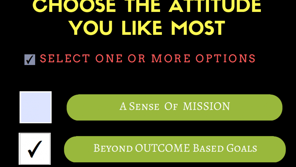 Beyond Outcome Based Goals - Sample Project  - student project