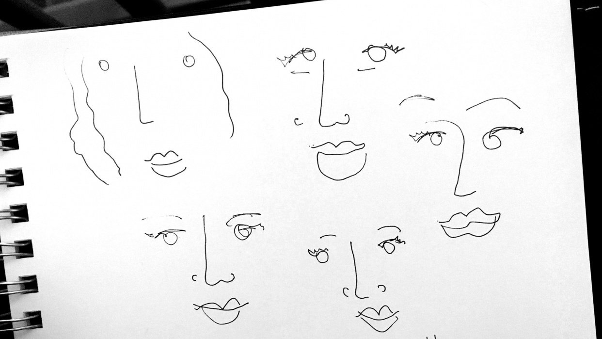 Selfie sketches - student project