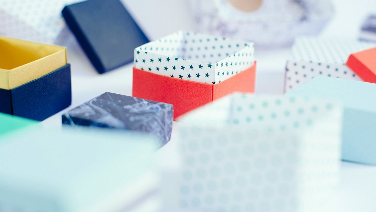 Origami Gift Boxes - student project