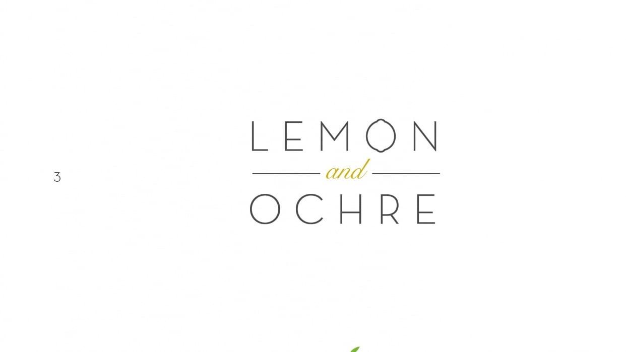 Lemon & Ochre Logo - student project