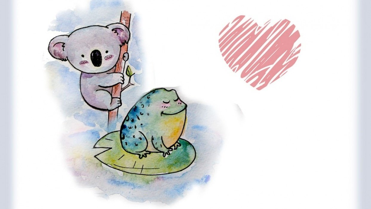 Koala Bear and Frog ^_^ - student project