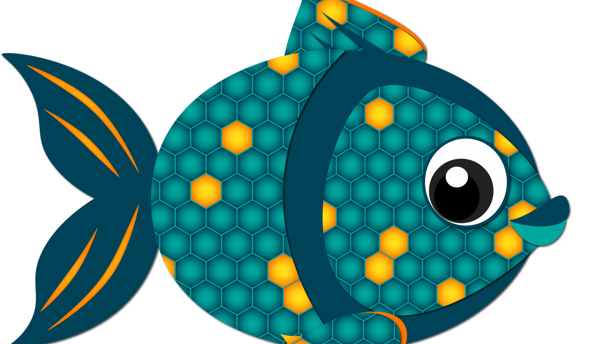 Hex Pattern Fish - student project