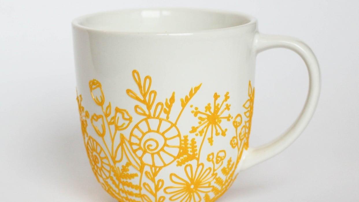 My botanical mug - student project