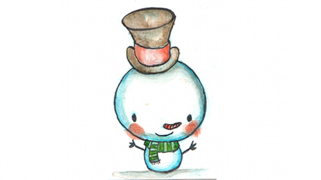 Watercolor Holiday Characters - student project