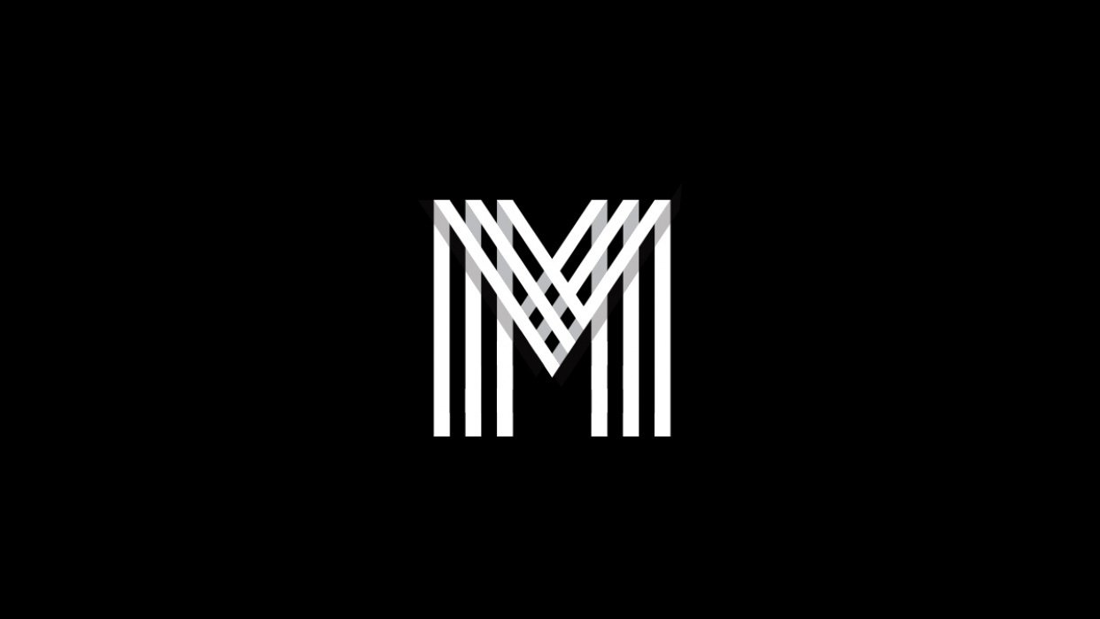 Letter M grid logo - student project