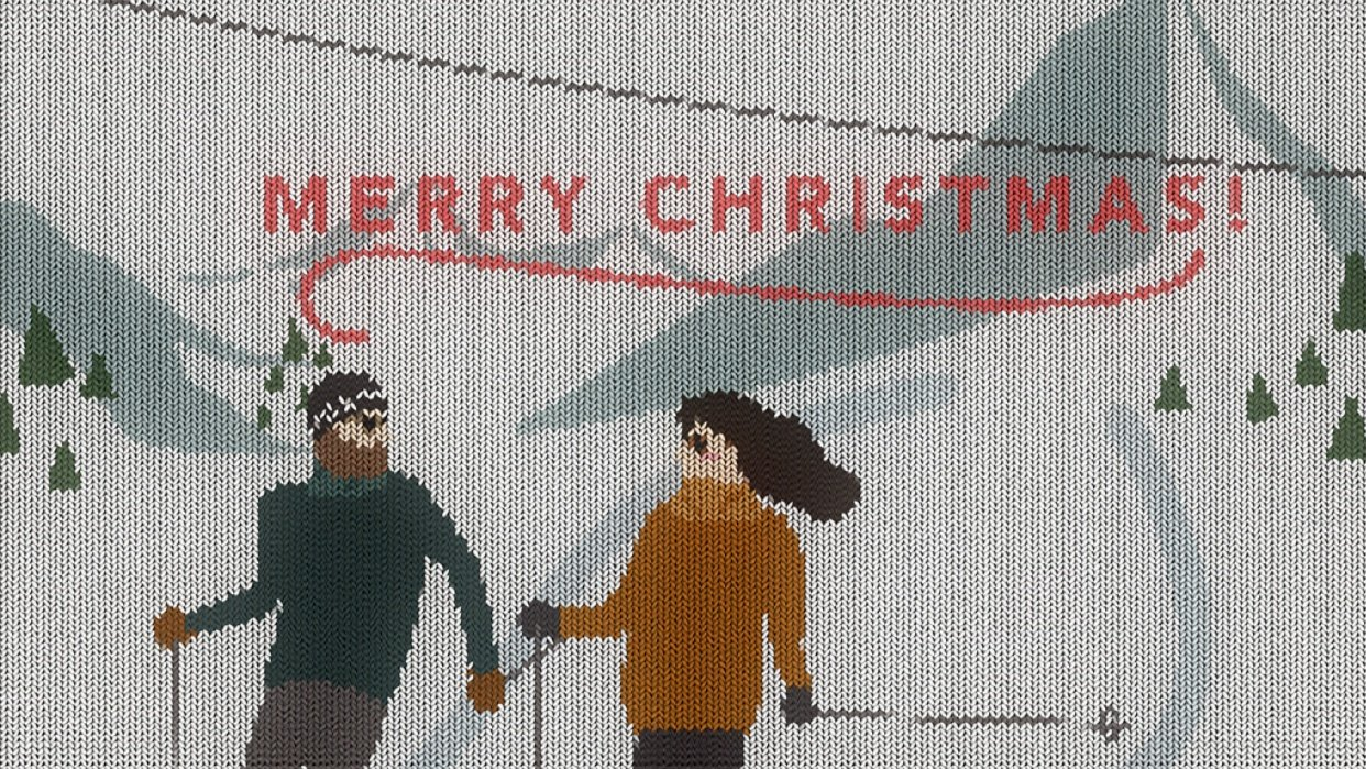Christmas on skis - student project