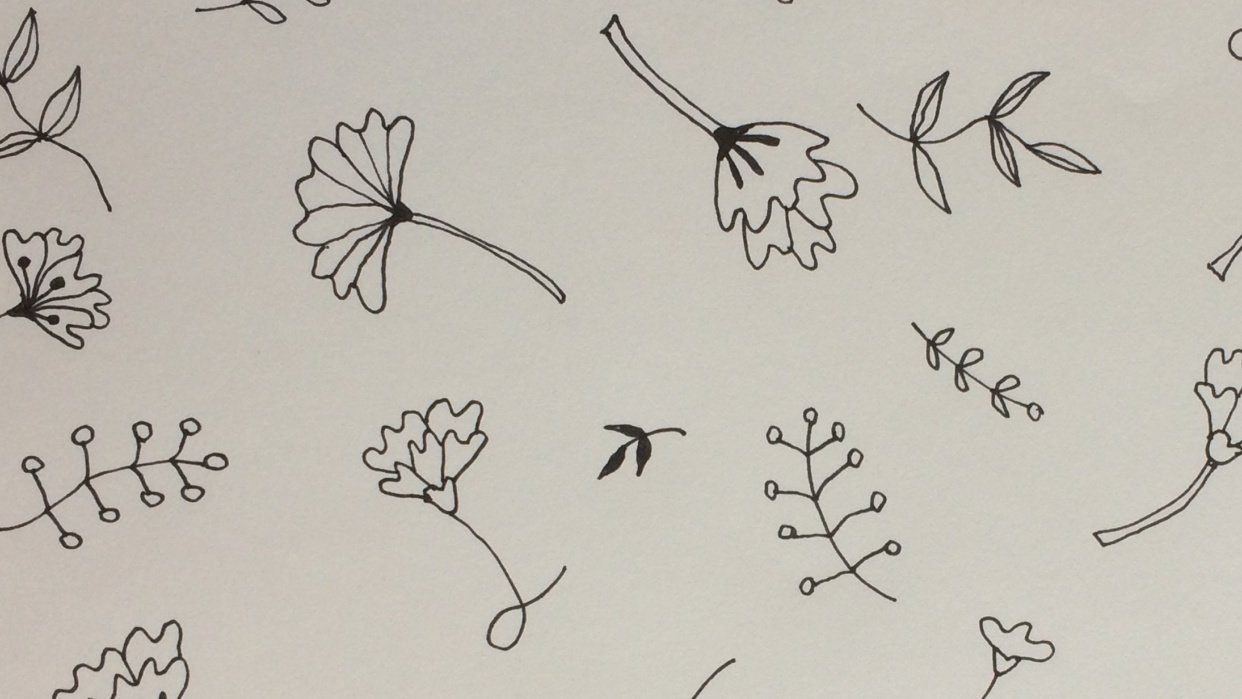 Flowers and Leaves pattern - student project