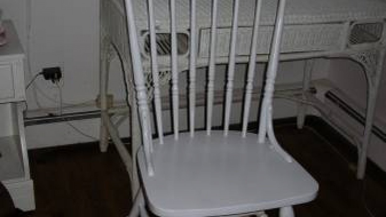 Adding color to a bedroom chair. - student project