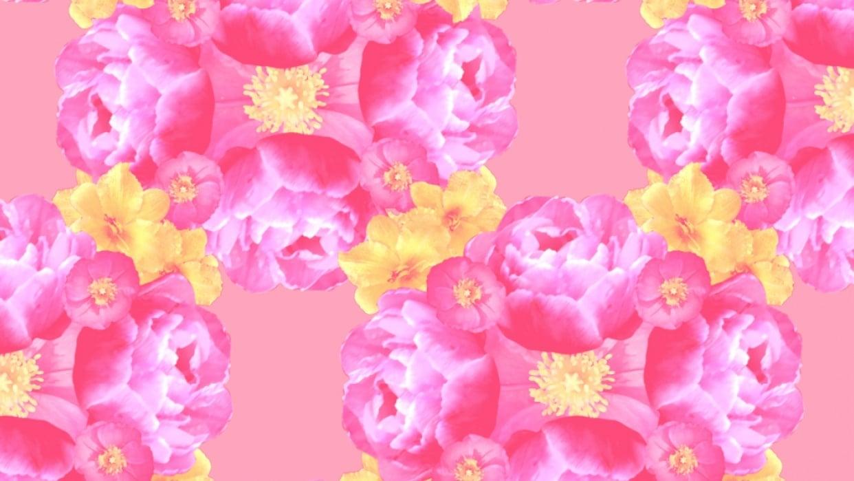 floral motifs pattern - student project
