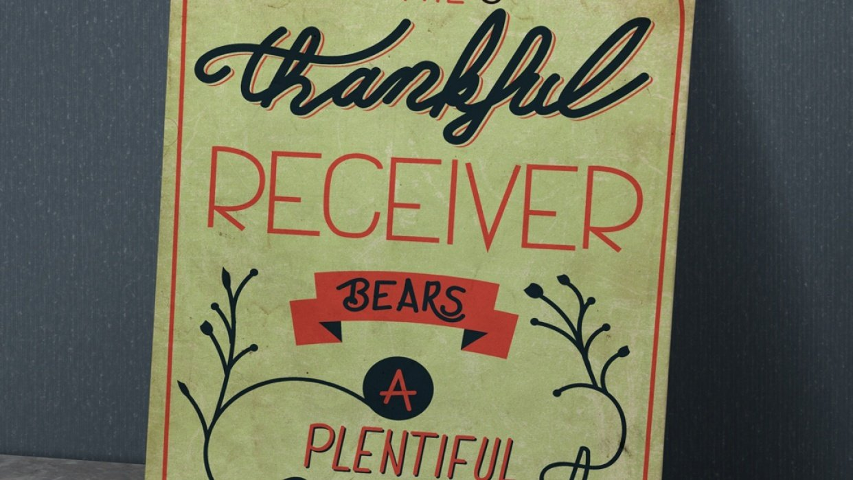The thankful receiver - student project