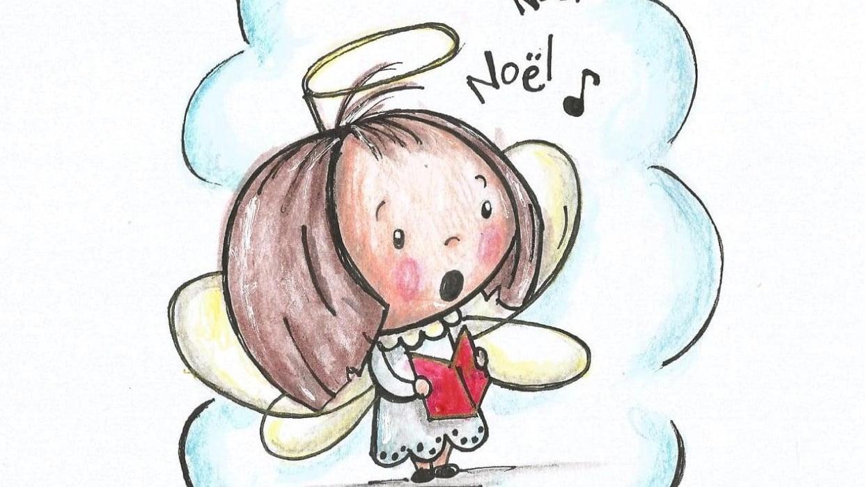 Cute little choir girl - student project