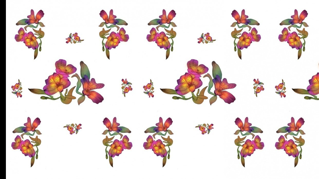 Floral wallpaper - student project