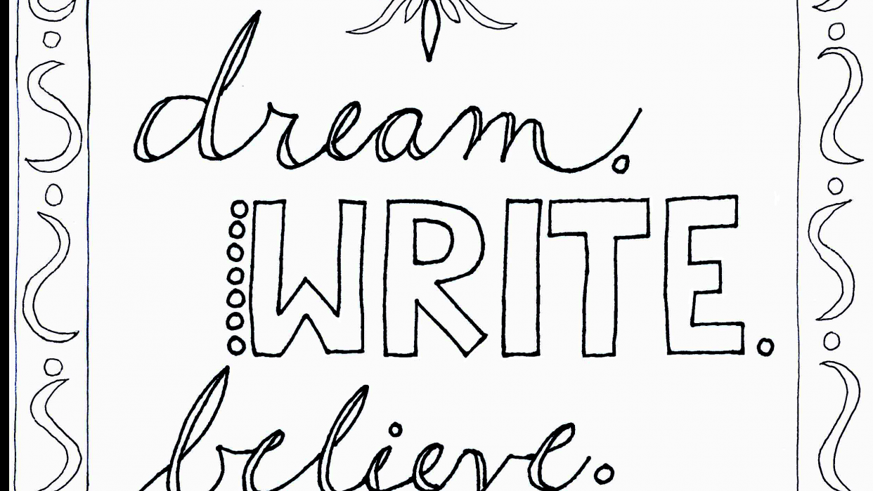 Dream, Write, Believe - student project