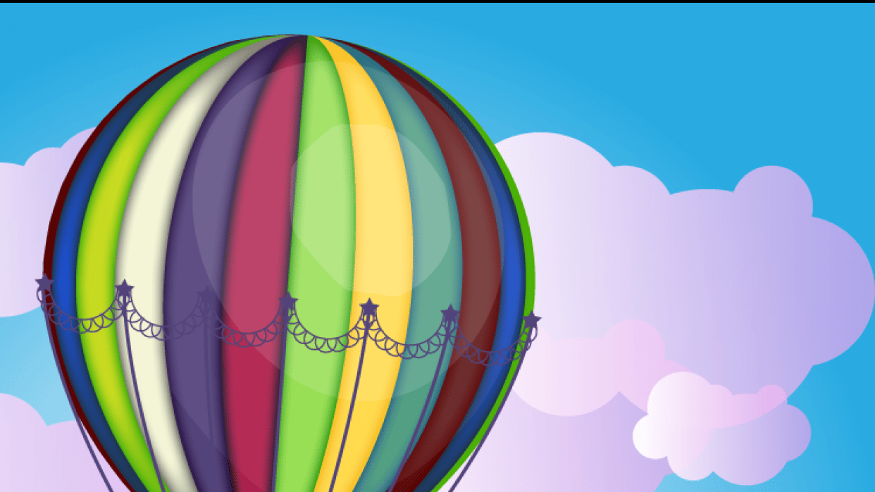 Hot air baloon - student project
