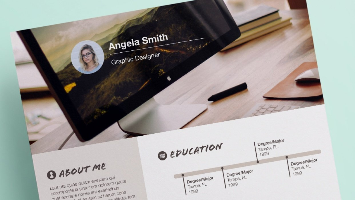 My Infographic Resume - student project