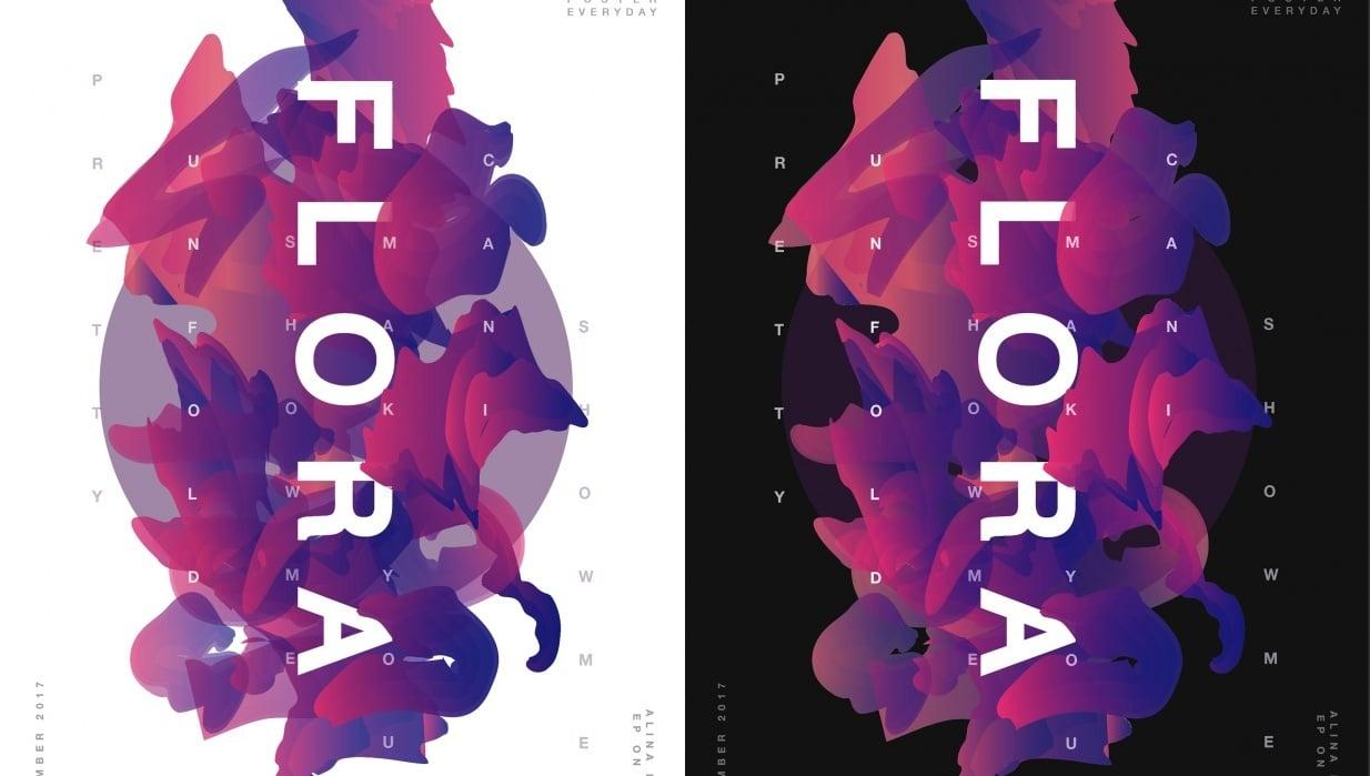 FLORA Album Poster - student project