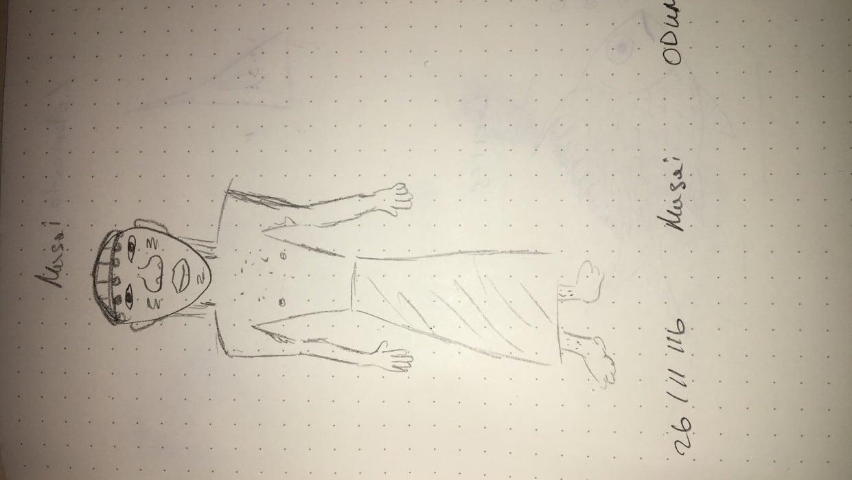 Random doodle - student project