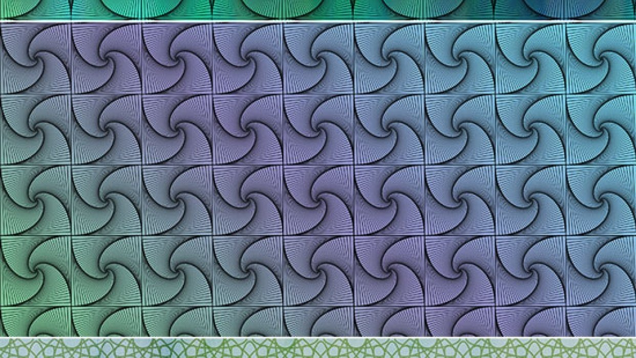 Whimsical Rotated Patterns in Photoshop - student project