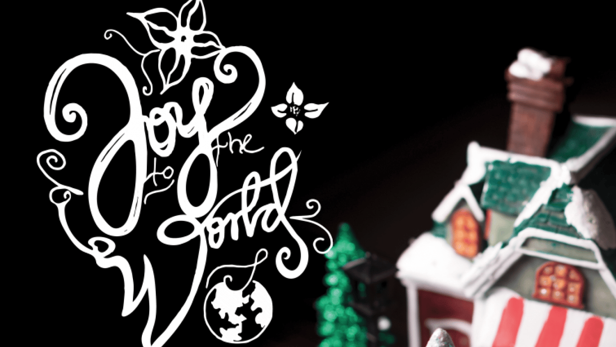 Quick lettering for Christmas cards - student project