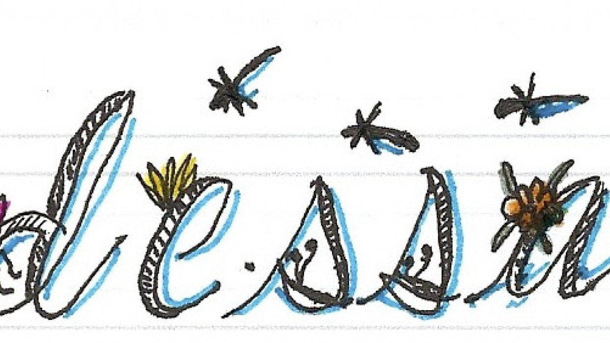 Botanical Alphabet... class project, my name - student project