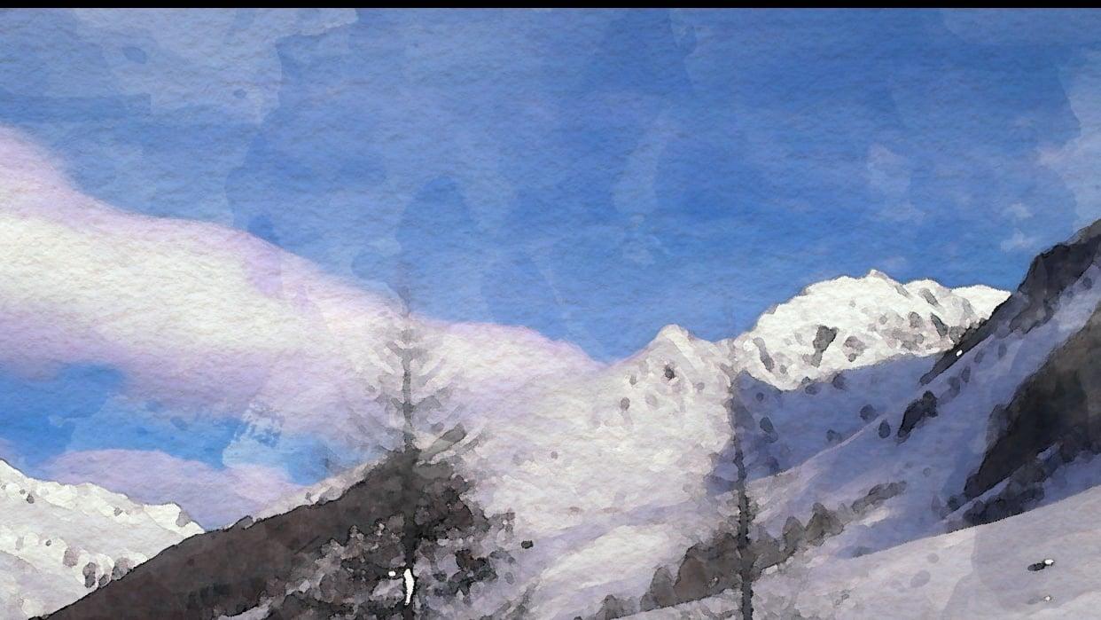Winter - Spring Landscape - student project