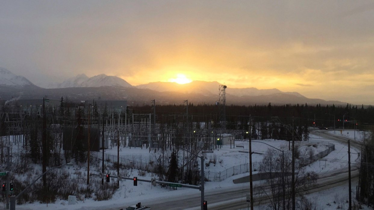 Winter daylight in Anchorage, AK - student project