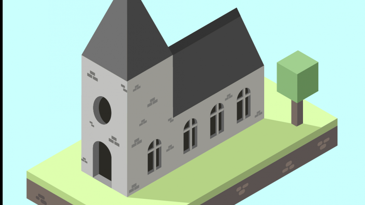 Isometric Church Project - student project