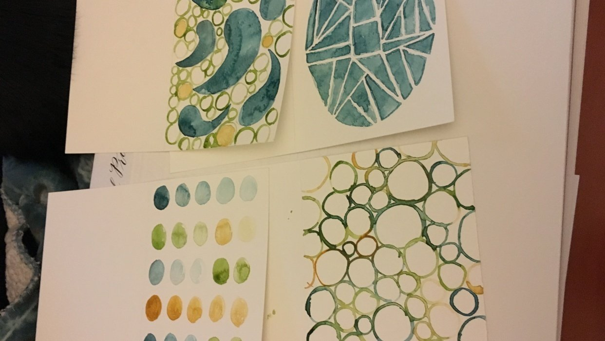 Blue and Green 4 Ways - student project