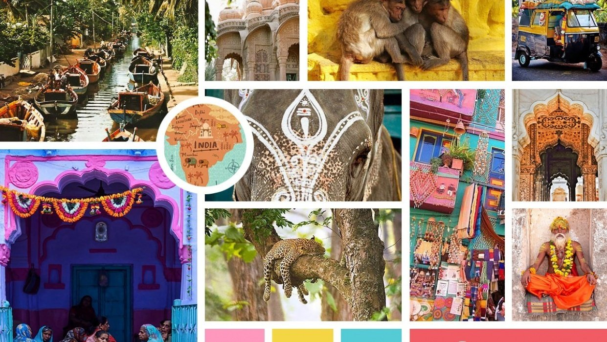 India Mood Board  - student project