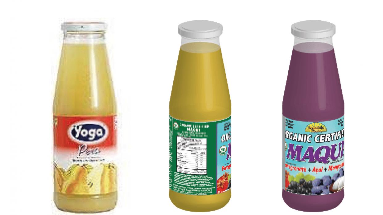 My 3D bottle juices - student project